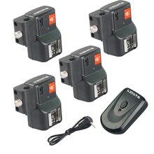 Le plus récent déclencheur Flash sans fil Photostudio + 4 récepteurs PT-04NE avec porte-parapluie pour les appareils photo Canon Nikon Pentax Olympus