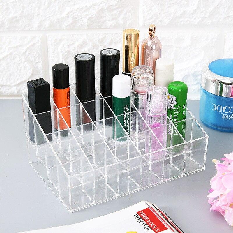 Многоуровневый акриловый прозрачный органайзер для макияжа коробка для хранения губная помада лак для ногтей Органайзер шкатулка для косметики и украшений держатель