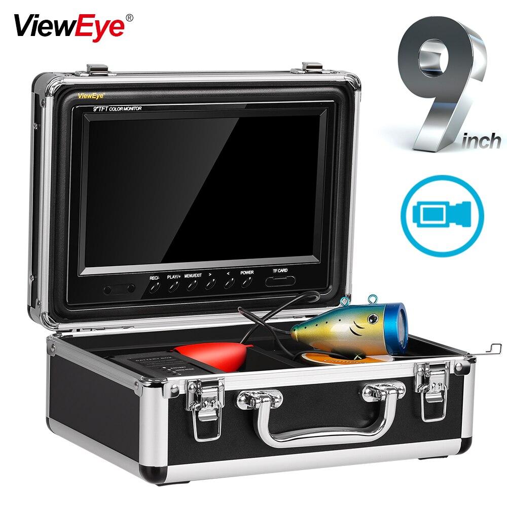 Cámara subacuática infrarroja de TVL para pescar 9 pulgadas, grabador de vídeo para buscador de peces, DVR, Fishcam Visible, buscador de peces, 12 LED