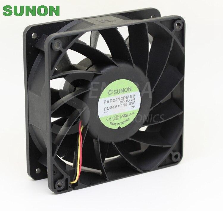 الأصلي ل Sunon PSD2412PMB2 24V 15.0W وحدة المعالجة المركزية برودة التبريد محوري مروحة 12038 120x120x38 مللي متر 12 سنتيمتر