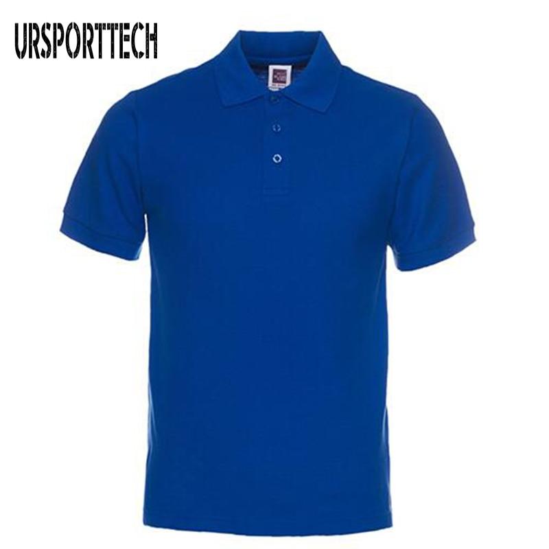Nova marca masculina polo camisas de algodão manga curta polos camisa casual cor sólida camisa polo masculino S-3XL