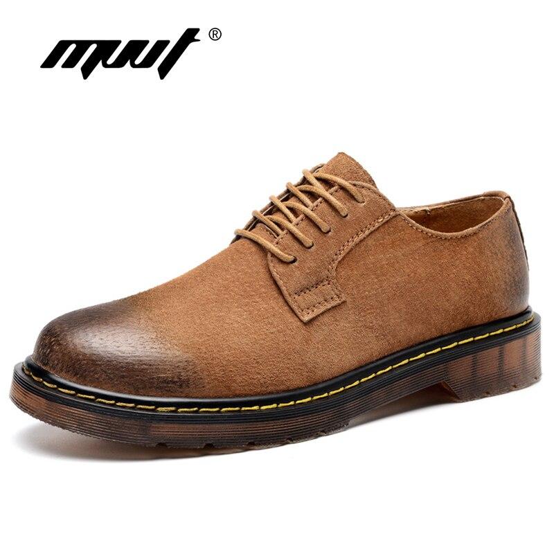 MVVT-أحذية جلدية أصلية للرجال ، أحذية أكسفورد سهلة الارتداء ، أحذية أدوات ريترو عصرية ، مقاس كبير ، أوروبا