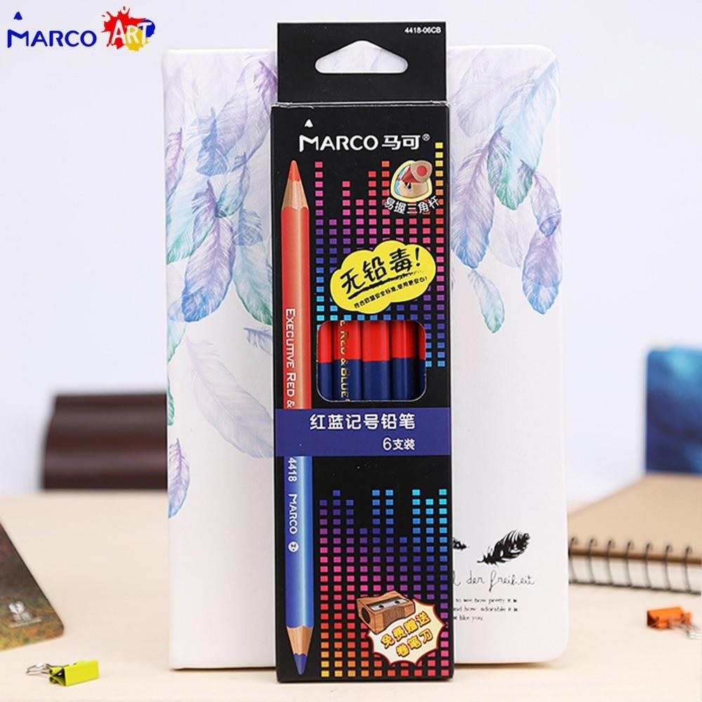 6 шт., двойные цветные карандаши с двойной головкой, lapis de colores Carpenter, цветные карандаши для маркеров, комплект карандашей, принадлежности для живописи