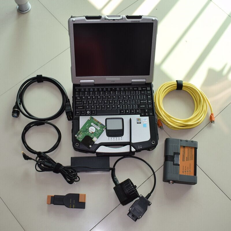 2021 for Bmw Icom a2 b c with Laptop Cf30 Software 500gb Hdd Ista Expert Mode Diagnostic Tool FULL CableS Ready to Use