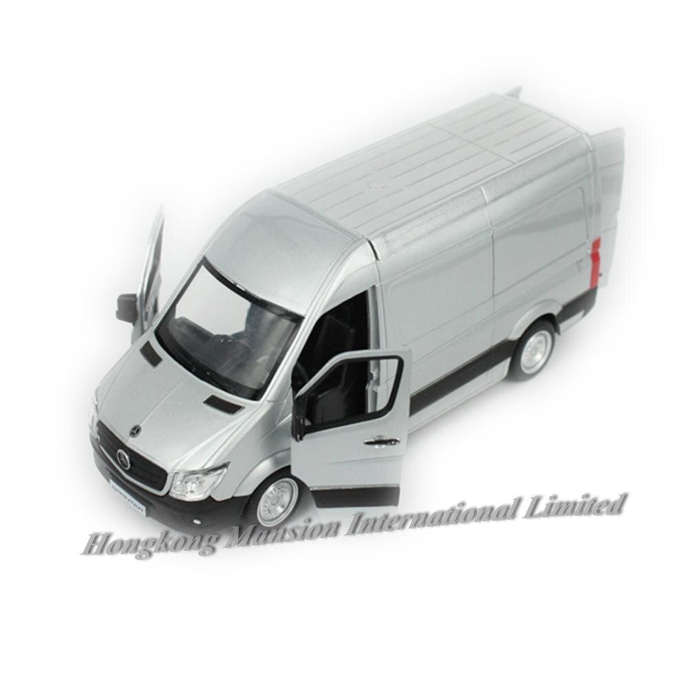 136 escala metal diecast liga modelo de carro para sprinter finalidade comercial veículo van coleção modelo licenciado brinquedos