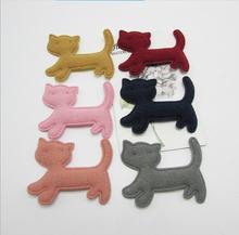 شعرت 50 قطعة/الوحدة 5 سنتيمتر مبطن فروي القط شكل يزين للطفل أغطية الرأس الاكسسوارات ، الأطفال الملابس الديكور