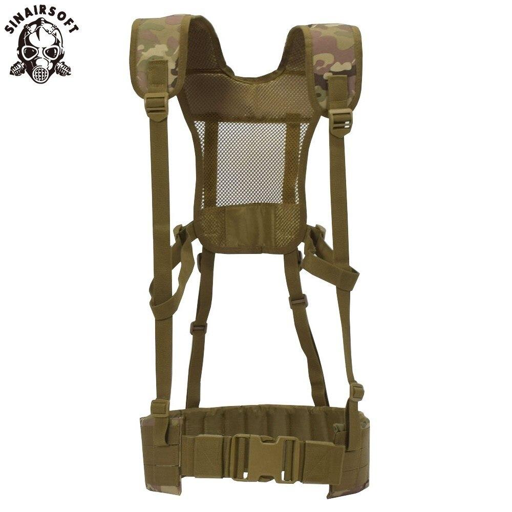 Chaleco táctico MOLLE 1000D Nylon chaleco cinturón combate ejército batalla faja para hombres con hombro Sling Airsoft cinturón de combate