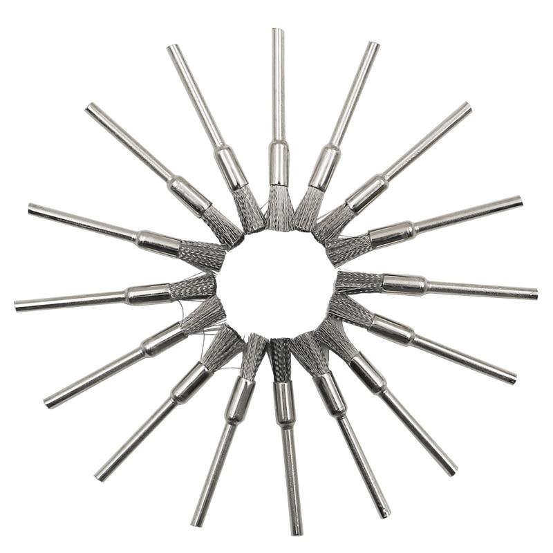 45-delige mini roterende roestvrijstalen draadschijf draadborstel - Schurende gereedschappen - Foto 3