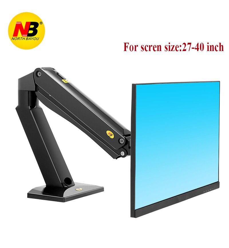 NB F45 resorte de Gas 27-40 pulgadas LED LCD TV montaje Monitor de movimiento completo soporte brazo de carga 2-15kgs VESA 75/100mm montaje de Monitor de escritorio