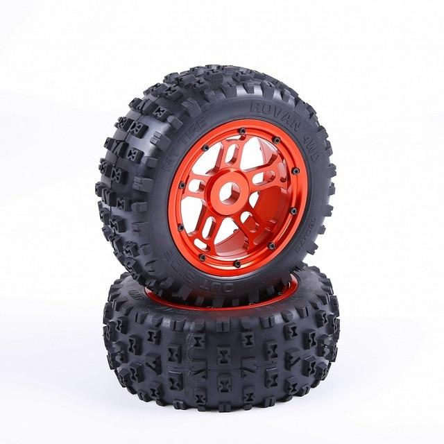 1/5 rc грузовик запасные части Losi 5ive-T 5T Rovan LT KM X2 сплав ступицы колеса с гвоздями шин