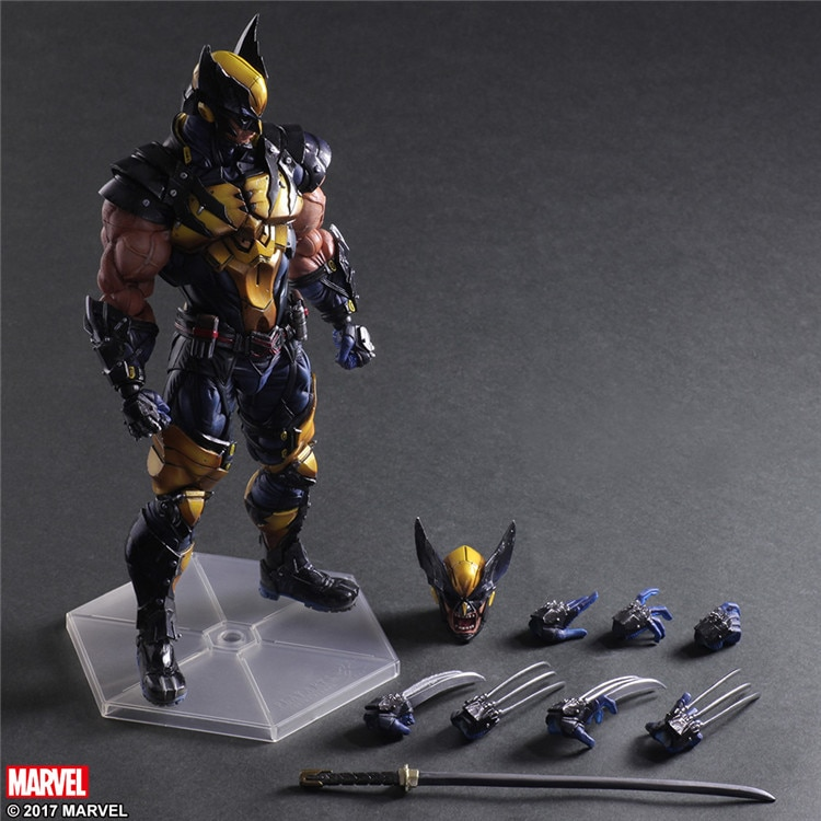 Play Arts Kai X men Logan Wolverine PVC Action Figure Collectible Model Toy 26cm