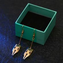 Anime JoJos Bizarre Adventure Rohan Kishibe Pen Earrings Cosplay Accessories Party Christmas Gift Women Girls Earrings