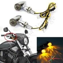 Mini Bullet E-mark E11 LED Motorcycle Turn Signals Indicator Light Handle Bar Turn Light Blinker Street Bikes Chopper Bobber