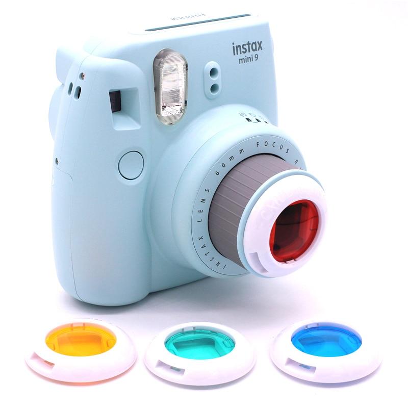 4 шт. Набор цветных фильтров для объектива Fuji Fujifilm Instax Mini 9 8 7s