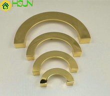 Tiroir de commode en or poli   2.5 3.75 5 6.3 en demi-cercle, tire les boutons de poignée, anneau de chute, poignées de porte de cuisine