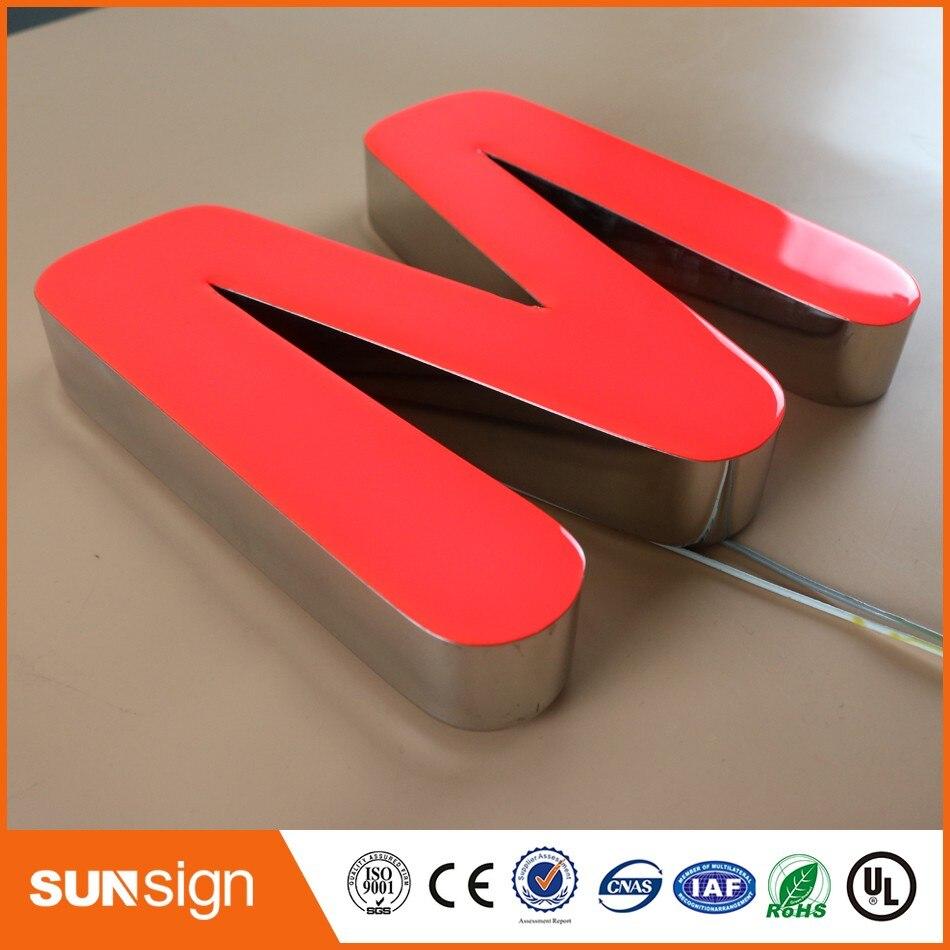 Front lit epoxy resin alphabet LED channel letter sign недорого