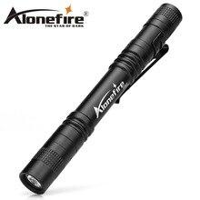 ALONEFIRE P50 CREE XPE LED 1 modo militar industria estándar impermeable pluma portátil mini linterna táctica antorcha AAA battey