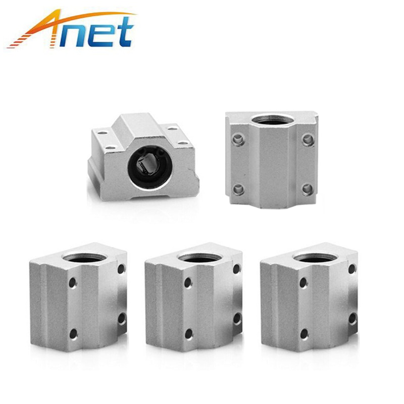 4PCS Anet SC8UU SCS8UU 8mm Motion Ball Bearing slider Block Bushing Linear Shaft 3D Printer Part new 8mm bearing bushing sc8v sc8vuu scv8uu linear bearing block for 8mm linear shaft