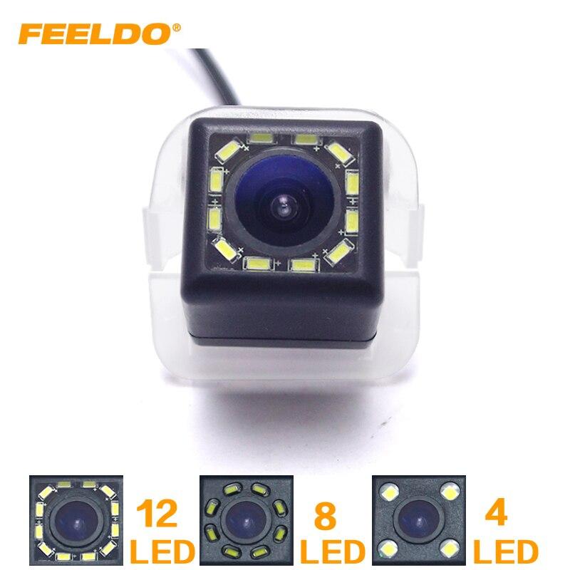 FEELDO cámara de aparcamiento de visión trasera de coche 4LED/8LED/12LED para Toyota Previa 2012/Tarago/Estima reversa cámara de respaldo # HQ6086