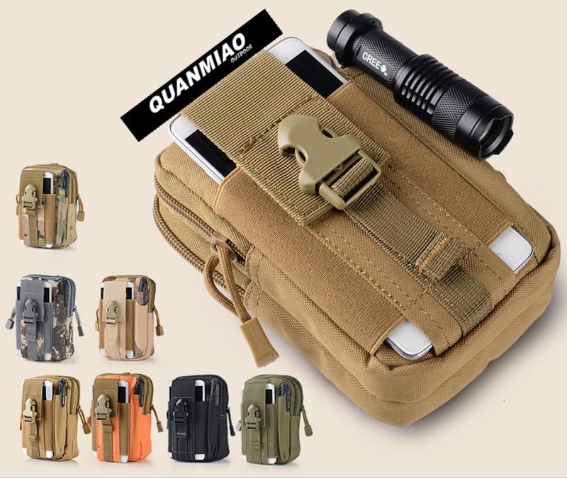 QM Universal al aire libre deporte táctico bolsa de cintura bolsas 5,5/6 pulgadas impermeable teléfono casos 600D Oxford bolsa táctica