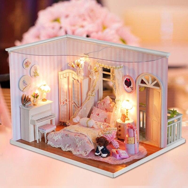 Memória rosa Série Casa Dando Puzzle Brinquedos Criativos DIY Casa Quente para Homens e Mulheres