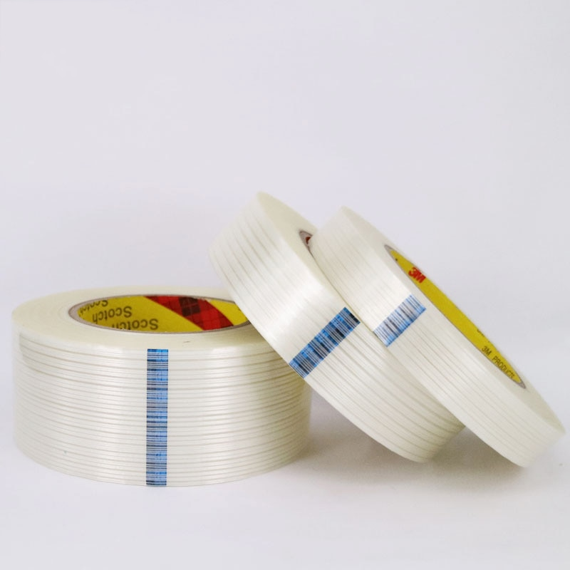 high temperature resistance Fiber tape traceless strength glass fibre tape with one-sided transparent stripes