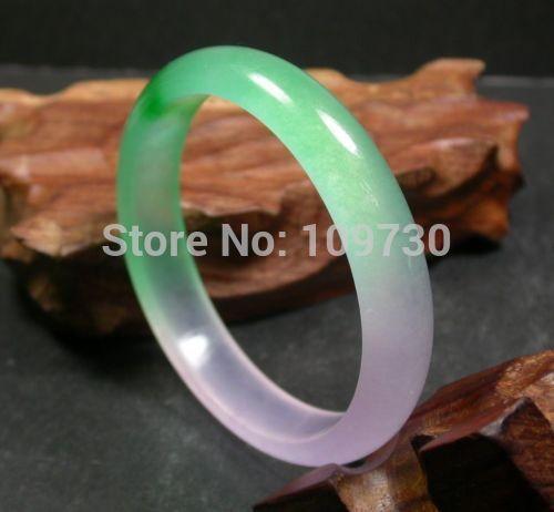 001532 gélido chino verde lavanda JADE Brazalete (A0502)