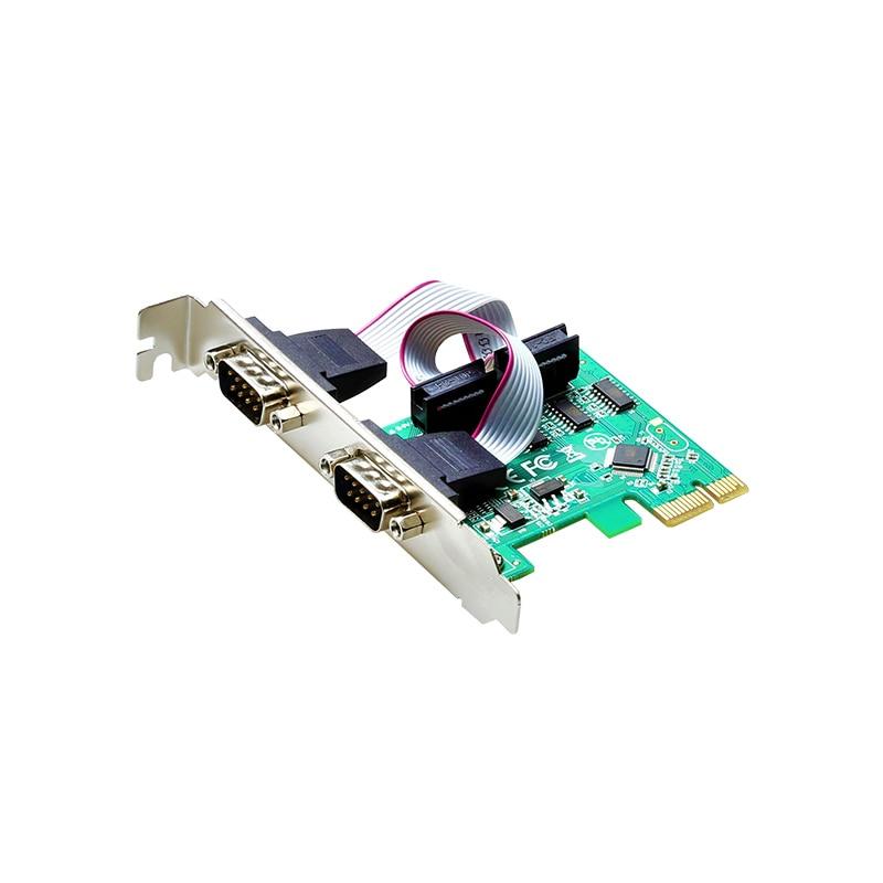 2 puerto RS232 RS-232 puerto serie COM para PCI-E PCI riser; Adaptador...