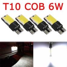 4PCS T 10 COB 6W W5W 194 168 LED Canbus Fehler Freie Seite Keil Licht Lampe Birne