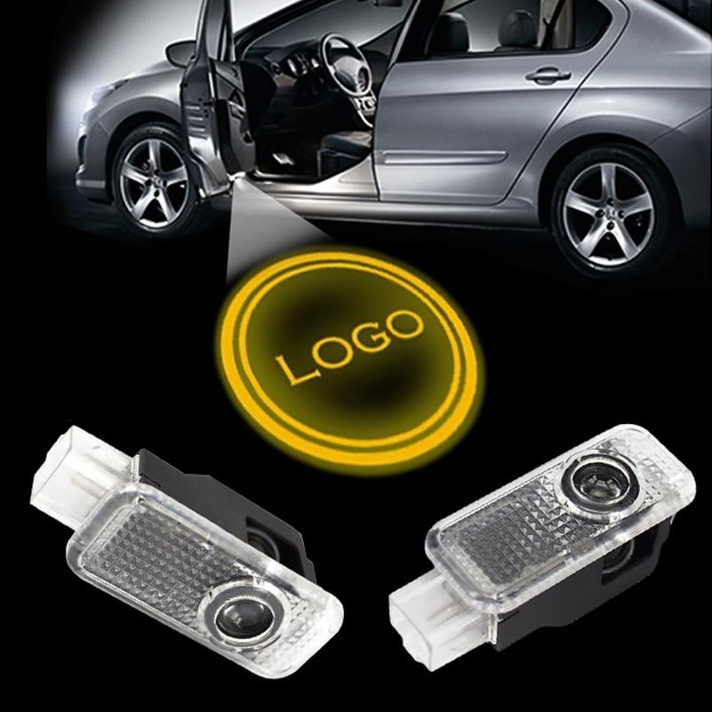 2 uds Led Auto Logo/emblema láser lámpara LED Puerta de coche paso fantasma sombra bienvenida proyector luz lámpara para RS3 RS4 RS5 RS6 RS7 TTRS