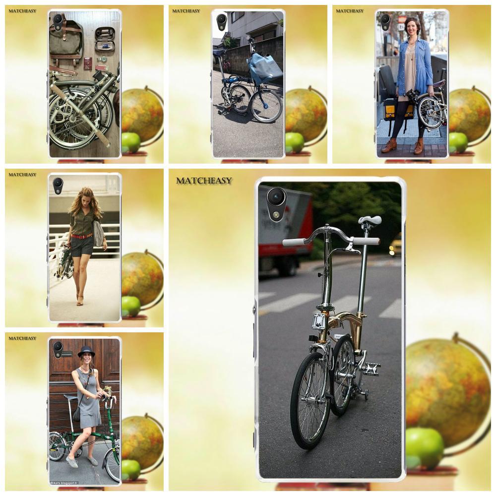Soft Silicone TPU Transparent Stylish Case For Sony Xperia Z Z1 Z2 Z3 Z4 Z5 compact Mini M2 M4 M5 T3 E3 XA Brompton Folding Bike