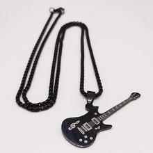 2020 moda música baixo colar de aço inoxidável para as mulheres cor preta longo colares jóias colares mujer n18994