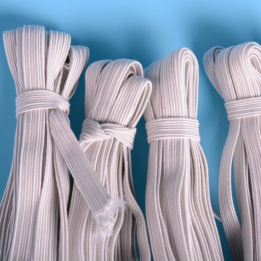36 m/lote 4mm-12mm cuerda elástica blanca elástico cuerda de rosca CH-1024