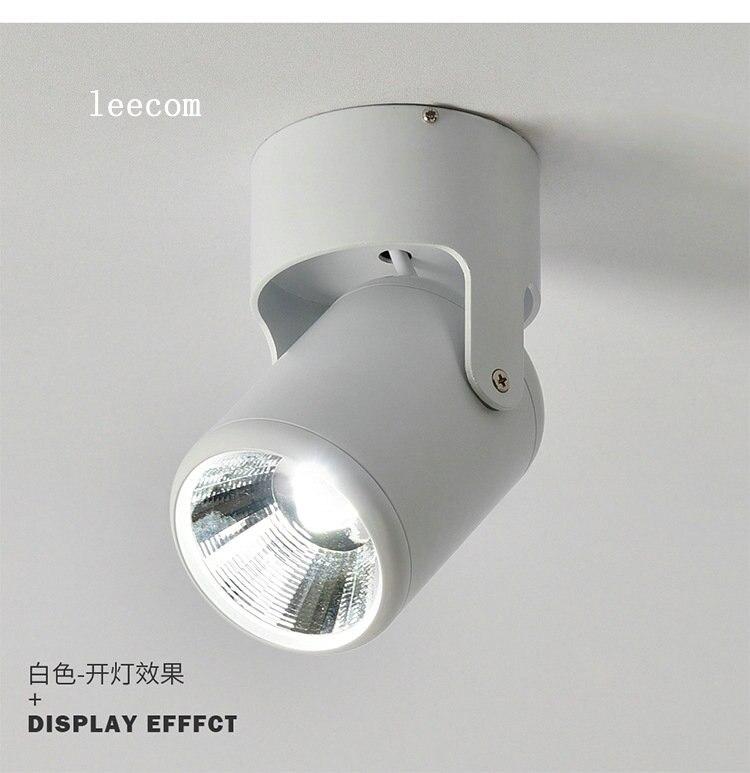 5w 7wSuper Luz de punto brillante 180 grados de rotación lámpara de techo Led abajo Ac85-265v Downlights superficie montada