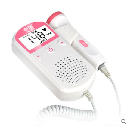 Pelvfine-Doppler Fetal Detector de latido Fetal, Monitor de frecuencia cardíaca portátil para bebé, Monitor de frecuencia cardíaca LCD ultrasrom