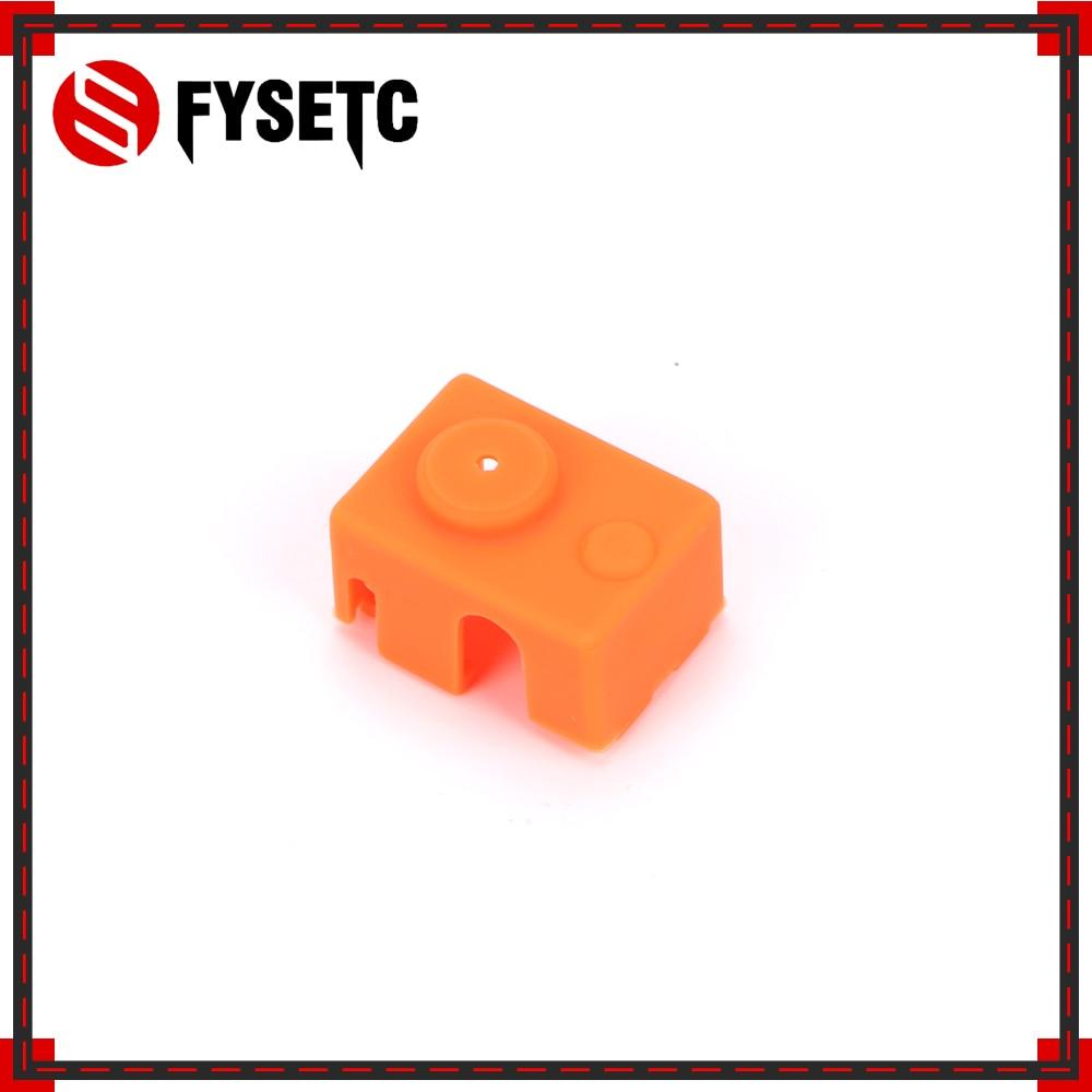 Actualizando el Kit de calcetines de silicona de bloque PT100 naranja para E3D DIY V6 Hotend Prusa i3 MK3 Ultimaker bloque de calor de impresora 3D