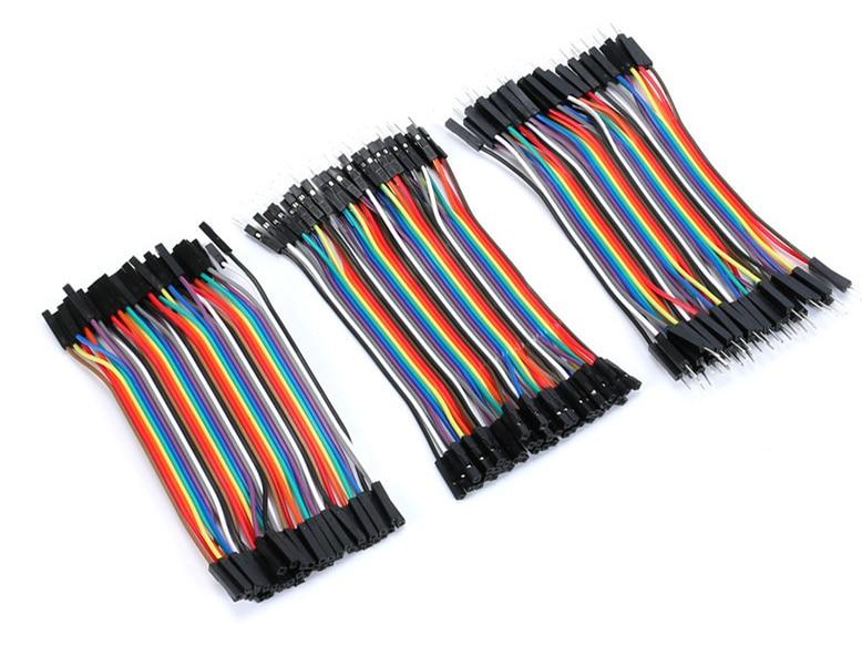 120 Uds. dupont lines 40P 10cm 1pin macho a macho, hembra a macho, hembra a hembra dupont cable conector cables de puente para placa de pruebas