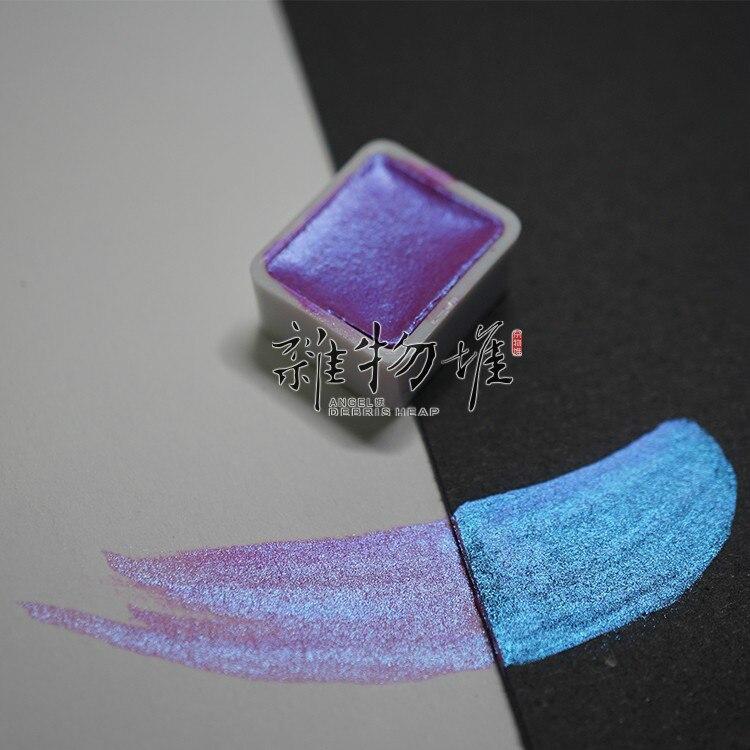 Pigmento sólido de acuarela Rubens Color nacarado 48 colores monobloque Color personalizado pigmento sólido de acuarela