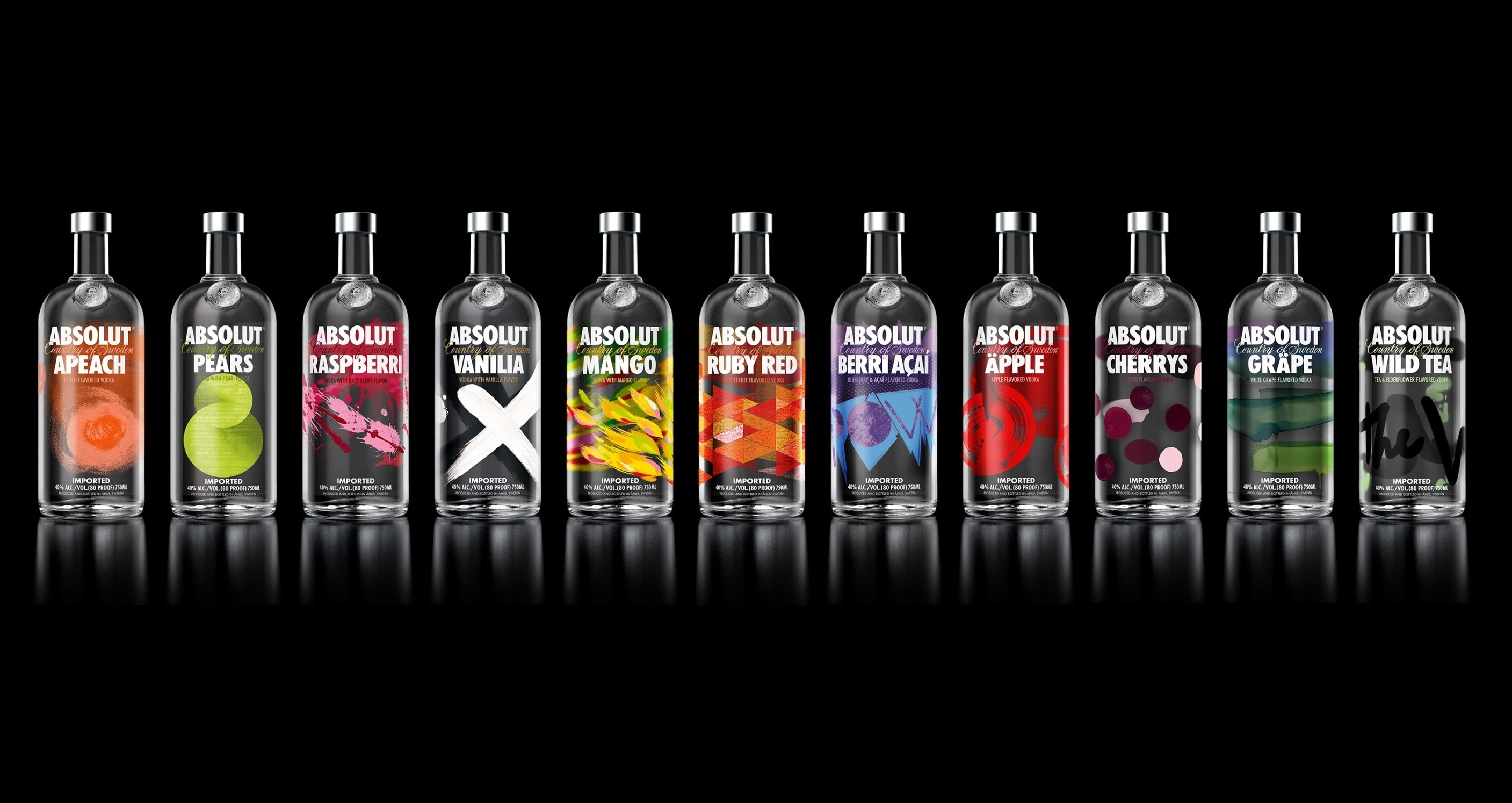 Decoración de casa de vodka Absolut botellas de alcohol de seda póster...