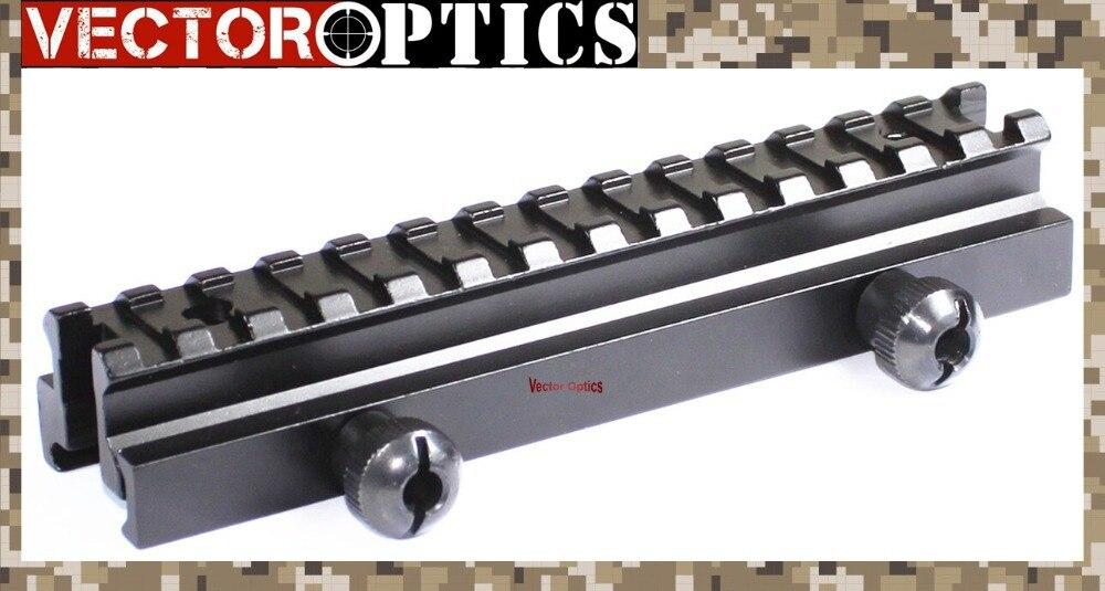 Envío Gratis óptica vectorial de Riflescope vista Picatinny Riser riel de montaje Base ajuste Colt Bushmaster etc Rifles