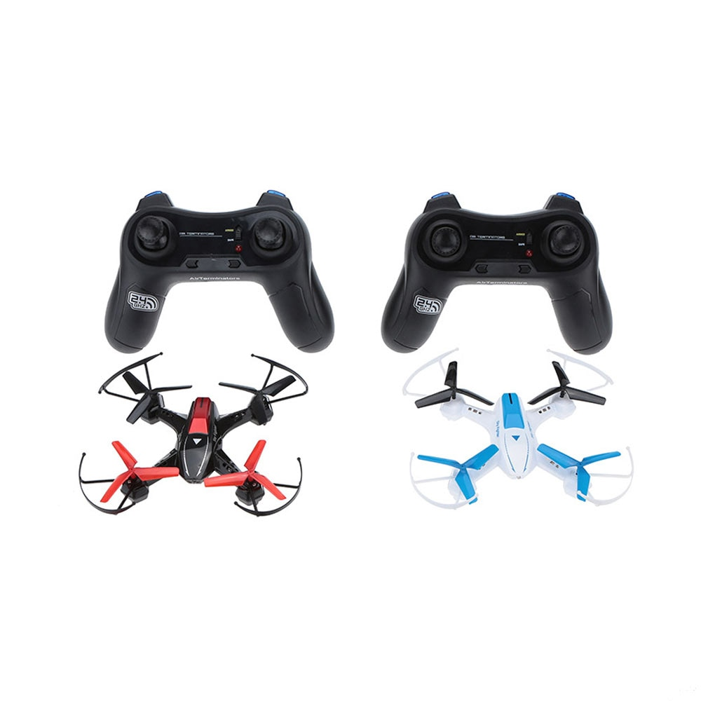 Sky Fighter 1 Pair(white and black)rc drone YD-822 2.4G 4CH 6-Axis Gyro RTF RC Quadcopter Battle with Infrared Combat Function enlarge