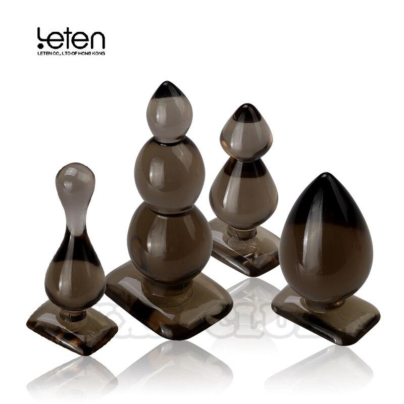 Bolas Anales de silicona Leten, tapón Anal, tapón Anal, consolador Anal juguetes sexuales para adultos productos para mujeres y hombres, sin vibración