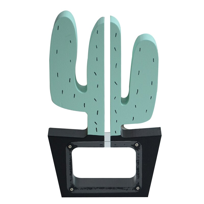 Hucha de madera para decoración de Cactus, hucha de regalo para niños, hucha de decoración de Navidad para habitación de bebé