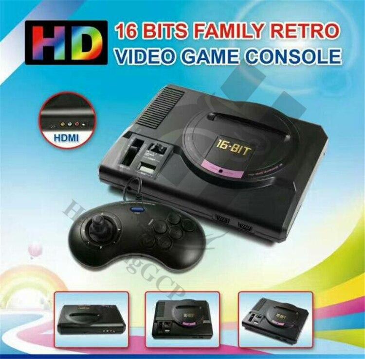 Haolonggcp melhor 112 jogos clássicos hdmi tv para fora para sega mega drive simulador md console de jogos de vídeo computador sonic contra