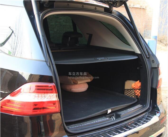 Pare-soleil de protection pour le coffre arrière de la voiture   Protection de cargaison pour Benz ML classe ML300 ML350 ML500 2006-2012/2013-2017 (noir beige)