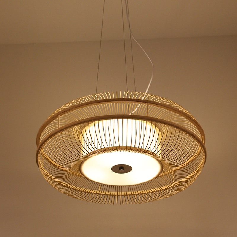 Handmade Weaving Classic China/Japanest Pendant Lamp Bamboo Lighting Fixtures Industrial decor Hanglamp for Tea Room Home Study