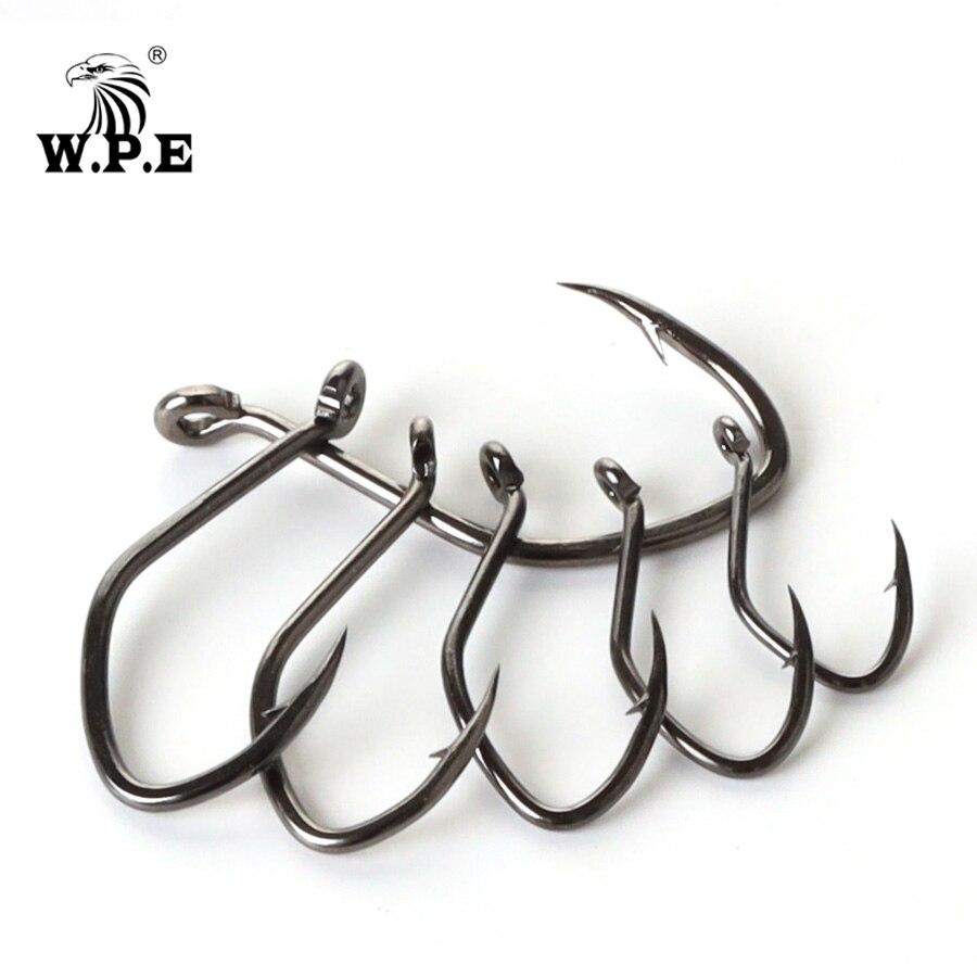 W. P.e брендовый крючок для сома 5-10 ⑤ упак. Высокоуглеродистая сталь рыболовный крючок 2 #-12 # очень острый крючок колючий крючок для сома рыболовные снасти