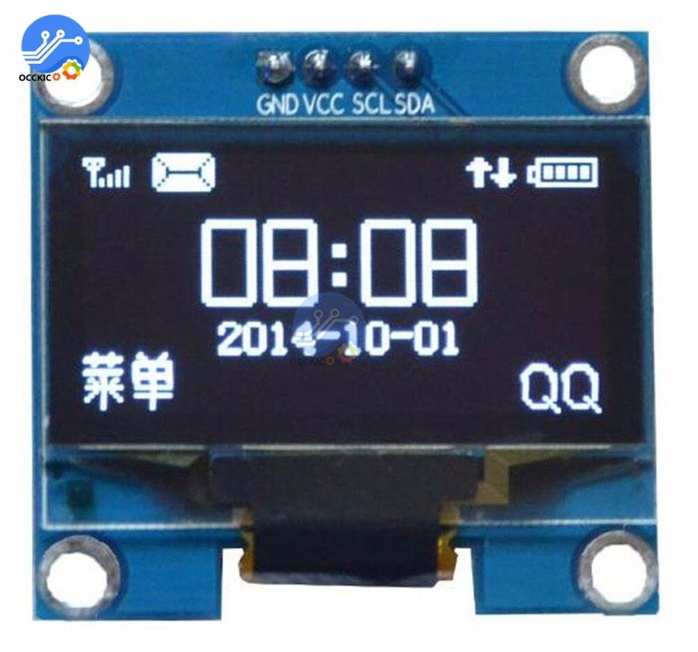 "1,3 pulgadas de la CII I2C serie Blanco Módulo de pantalla OLED 128X64 I2C interfaz ssh1106 monitor de pantalla LCD 3,3-5 v 1,3 ""para Arduino"