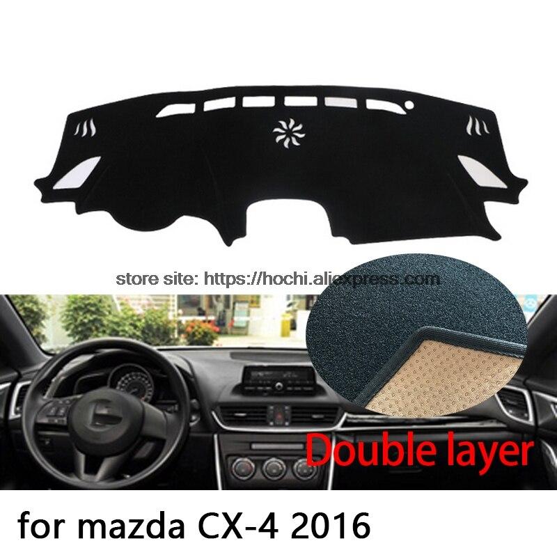 Para mazda CX-4 cx4 2016, doble capa de gel de sílice, almohadilla para salpicadero de coche, plataforma de instrumentos, escritorio, evitar esteras ligeras, pegatina de cubierta