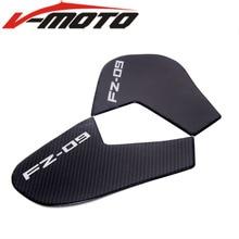 Motorcycle  Carbon fibreFuel Tank Pad Anti Slip Protector Stickers Knee Grip Side Decals for YAMAHA MT09 MT-09 FZ09 FZ-09 FJ09